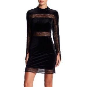 Romeo & Juliet Couture Black Velvet Dress Small
